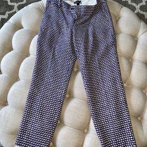 JCrew Cafe Capri pants size 4 (purple tweed)